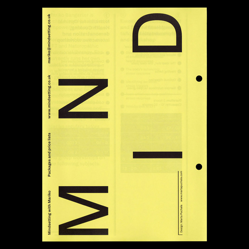 Marta Puchala - Another Graphic | Archive of graphic design focused on typographic treatment | graphic design inspiration