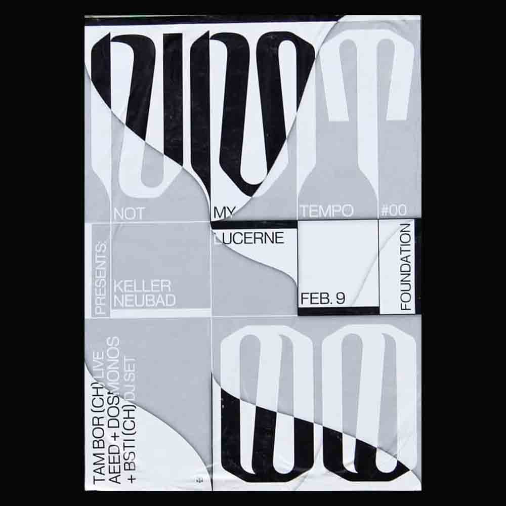 Not My Tempo Collective - Another Graphic | Archive of graphic design focused on typographic treatment | graphic design inspiration