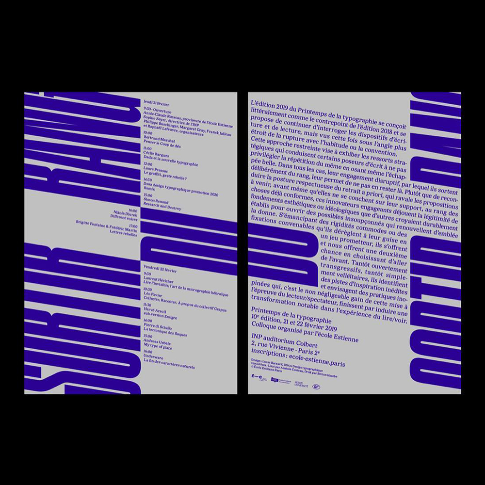 Lucas Bernard - Another Graphic | Archive of graphic design focused on typographic treatment | graphic design inspiration